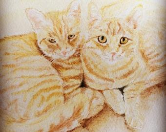 9x12 Watercolor portrait