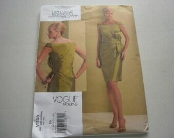 Pattern Ladies  Women Dress Sizes 12 to 18 Vogue 1108 A