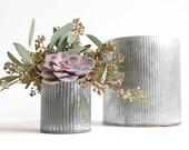 Galvanized planter, large planer, indoor planter, galvanized metal, galvanized decor, zinc, planter pot, zinc planter, rustic wedding