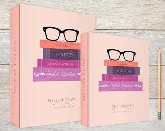 3-Ring Binder Glasses & Books