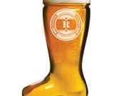 NEW 2 Custom Engraved 17 ounce Beer Boot - Das Boot - for Groomsman Gift