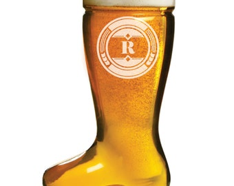 Engraved Groomsman Gift, 3 - 17 ounce Glass Beer Boot, Das Boot, Groomsmen Gift, Custom Beer Mug, Laser Engraved Gift, Personalized Gift