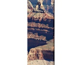 Grand Canyon Canvas - Landscape Photo - S W Decor - Natural Wonder - Tall Canvas - Red Brown and Gold - Large Canvas - 20 x 60 Canvas