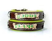Dog Collar Personalized - Padded Leather Dog Collar - Personalize Leather Dog Collar - Handmade Collar with Name Custom Dog Collar Tooled