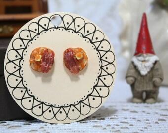 Pancake and Bacon Studs//Earrings//Breakfast//Cufflinks