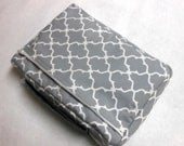 Reserved for Jacqueline Bible Cover Gray and White Quadrafoil