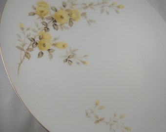 Rambler Rose Yellow Sango Large Oval Serving Platter