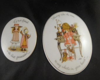 Holly Hobbie Plaques  - A true friend is the best possession and Always take the time to say what's in you heart