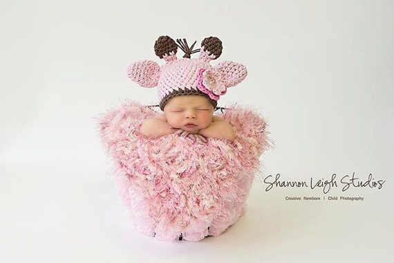 Dusty Rose Photography Prop Baby Blanket Pale Pink Newborn Photo Prop 'Icing'