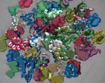 Animal Gems Acrylic Plastic Multi-Colored