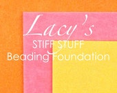 Supplies-Lacy's Stiff Stuff-Beading Foundation-4.25 Inch Pre-Dyed-Yellow-Pink-Orange-Quantity 3