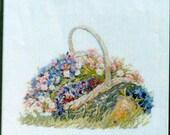 Basket with Flowers – Permin of Copenhagen – Cross Stitch Leaflet 157009