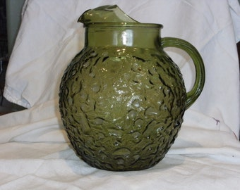 Vintage Green Ball Pitcher