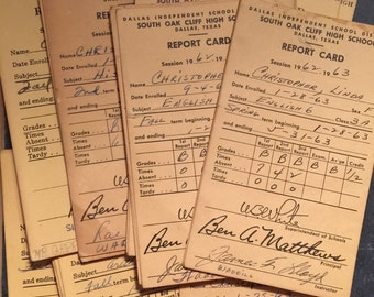 Vintage Elementary, Junior High, High School Report Cards