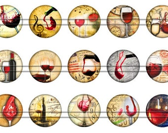 """Wine Magnets, Wine Pins, Wine Tasting Pins, Fruit of the Vine, Wine Party Magnets, Wine Tasting Magnets,  1"""" Flat, Hollow Bk, Cabochons"""