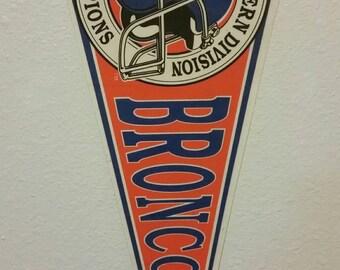 1989 Denver Broncos AFC Western Division Champions felt pennant