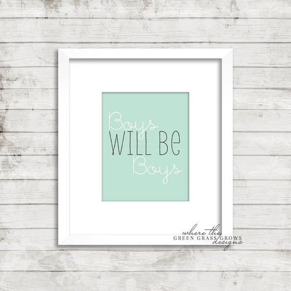BOYS will be BOYS 8x10 Print, Nursery Art Boy, Nursery Art, Wall Art, Baby Boy, Arrow Art, Tribal Art, Boy Bedroom Art,
