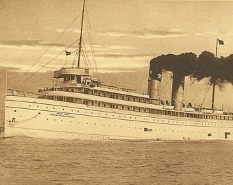 Steamer North Land on Unused Vintage Postcard - Neat Shipping Collectible