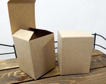 "15 - 3x3x4"" Kraft Gift Boxes"