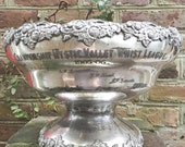 Antique 1906 Silver Plated Whist Trophy Punch Bowl