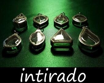 Art and Craft Supplies, Memento, Reliquary, Shadow Box Pendant, Natural Locket, Intirado, Terrarium Necklace, Leaf, Display Cases, 8pcs