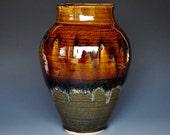 Sunset Pottery Vase Stoneware Flower Vase Handmade Ceramic Vase Pottery C