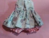 "Baby Alive  And Waldorf Doll Clothes Adorable Dress 10"" 12"" Or 15"" Eiffel Tower, Sparkle Paris"