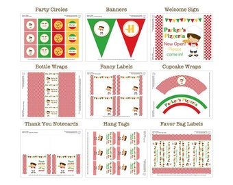 PRINTABLE Boy or Girl Pizza Party Package