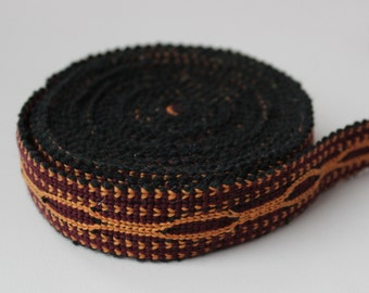Uzbek cotton woven trim Jiyak. Ethnic Boho, Hippy trim