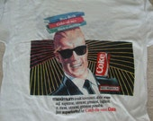 Vintage MAX HEADROOM Coke Coca Cola KZ 106 Radio 80's new wave punk T shirt M
