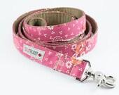 Dusty Rose Floral Dog Leash