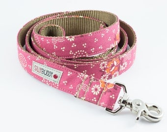 Dusty Rose Floral Dog Leash