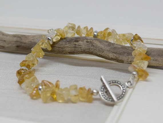 Citrine and sterling bracelet