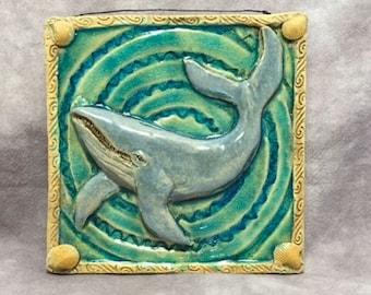 Blue Whale Ceramic Tile
