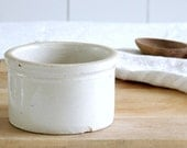 VINTAGE Stoneware Crock Rustic Butter Bowl
