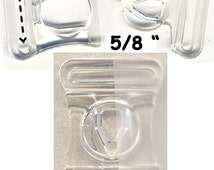 "6) 2-Way 5/8"" Inch Clear Clasp Lingerie Hook Clasp Bra Clip Swimwear Back Strap Style No.H"
