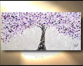 Original Abstract Painting Flower Tree Abstract Original Paintings Canvas Art Oil Painting Wall Decor Paint Artwork Modern Art by OTO