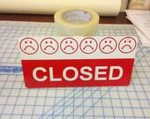 Open closed sign / aluminum sign / abierto cerrado / business sign / open sign / closed sign