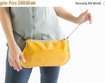 Summer SALE, Yellow Crossbody Bags,  leather Yellow purse, leather clutch yellow bag, leather yellow wristlet, leather yellow pouch, yellow