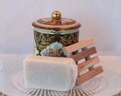 Soap Gift Set in Vintage Tin, Hostess Gift, Teacher Gift, Thank you gift,  Housewarming gift