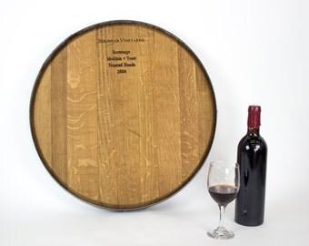 "LAZY SUSAN - ""Wine Barrel Head""  - French Oak 100% recycled"