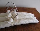 Damask Hangers, Ivory Damask Hangers, Padded Hangers, Brides Hangers, Bridesmaid Gifts, Bridesmaid Hangers, Wedding Hangers, Luxury Hangers
