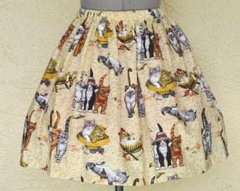 Sale - Cute Cats Skirt - Sizes X-Small - Large - Ready to ship
