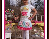 Easter Morning Skirt Set - Easter Basket and Colorful Eggs -  Infant Toddler Youth Girls - Easter Clothing