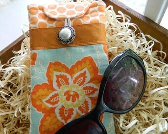 "Padded Eyeglass Case, Sunglass Case, Cushioned Eyeglass Case, Glasses Case, Eyeglass Holder, ""Heirloom"" by Joel Dewberry"