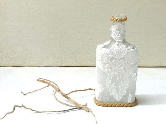 Https Www Etsy Com Listing 257500205 Crochet Lace Bottle Eco Friendly Home