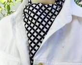 Ascot Tie Cravat. Black and white pattern.  100% cotton.  New