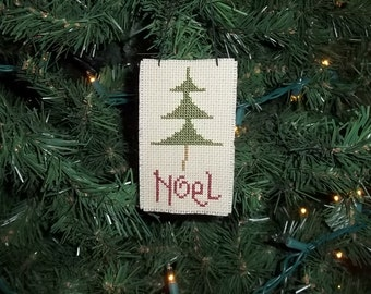 Christmas Ornament Hand Made Noel Tree Country Christmas