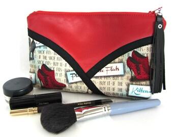 Leather Cosmetics Bag / Make Up Bag / Makeup Bag / Cosmetic Bag / Leather Makeup Bag / Leather Make Up Bag