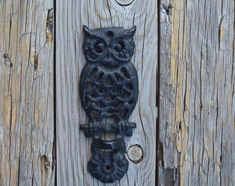 Vintage owl wall bracket wall decor cast iron  vintage kitchen home  decor owls collection